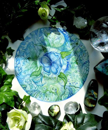 The Blue Garden with Crystals